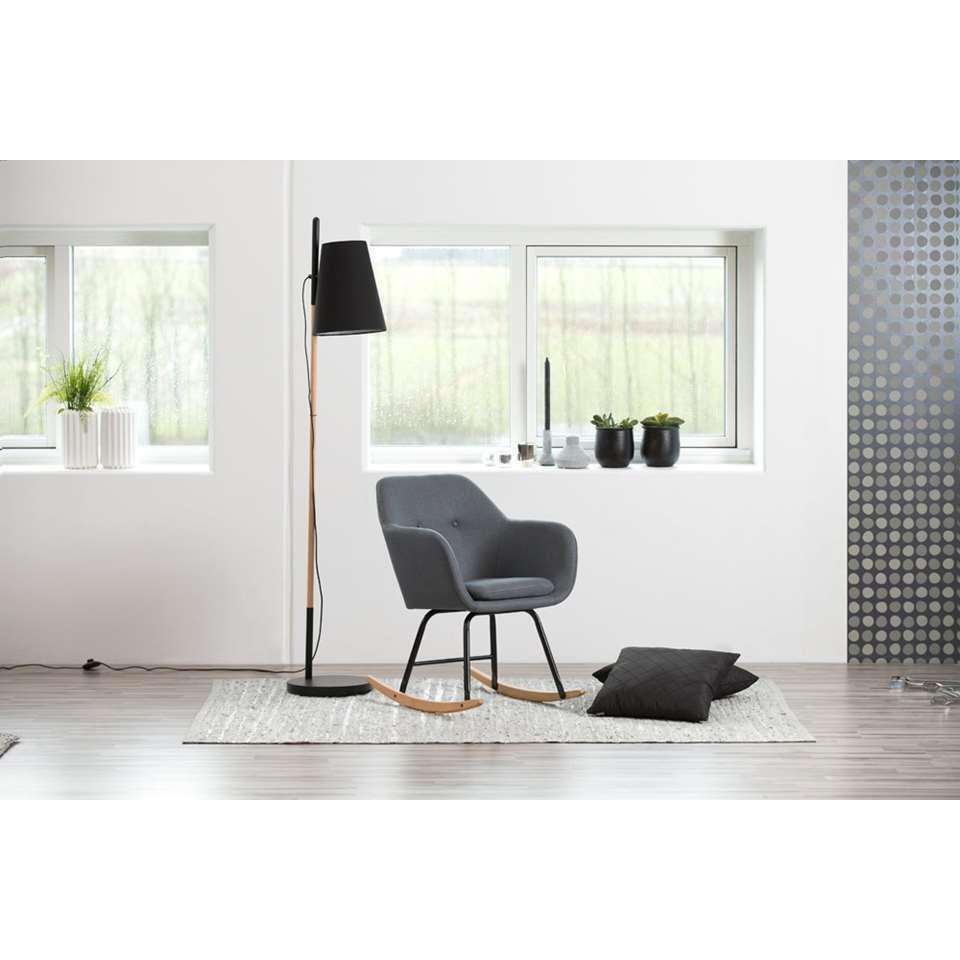 Scandinavisch Design Schommelstoel.Schommelstoel Anada Stof Donkergrijs