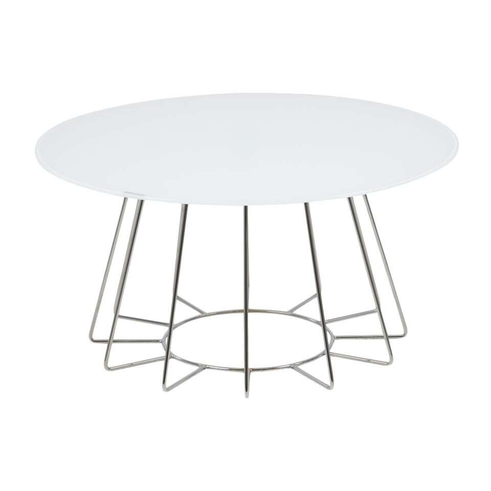 Table d'appoint Colos - blanc/couleur chrome