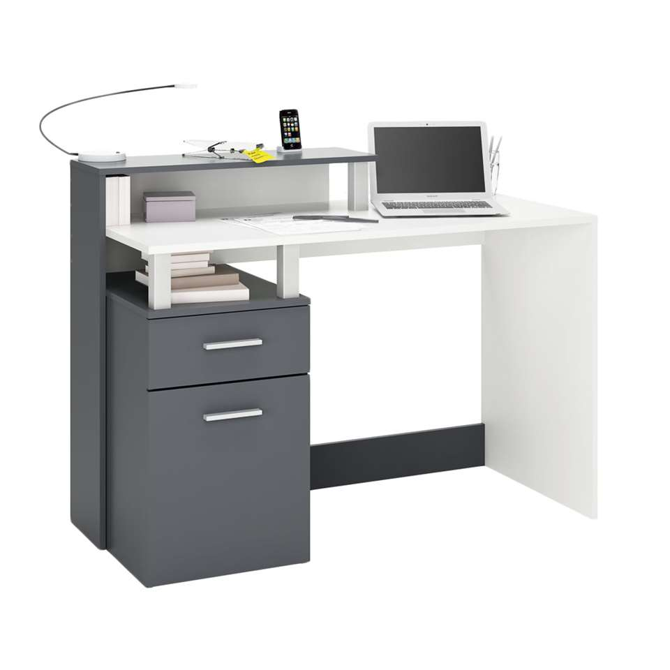 Demeyere bureau Oracle - antraciet/wit