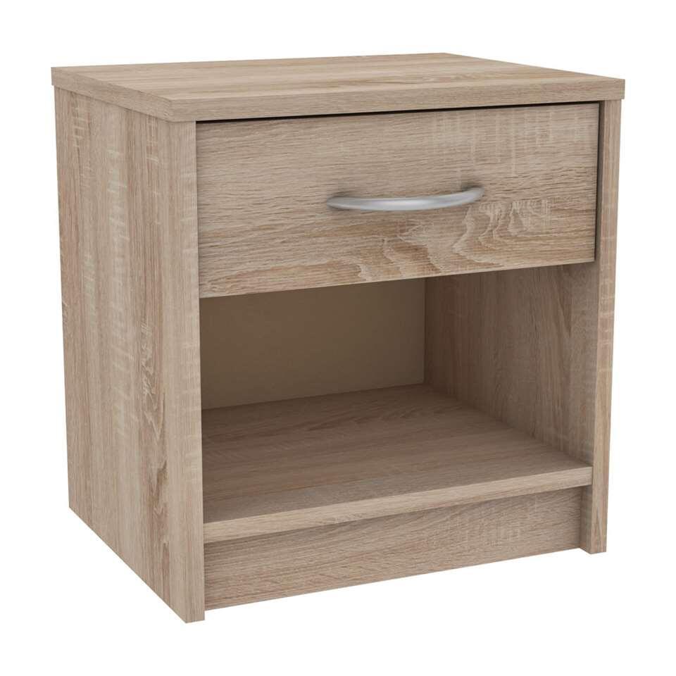 demeyere table de nuit iris couleur ch ne clair. Black Bedroom Furniture Sets. Home Design Ideas