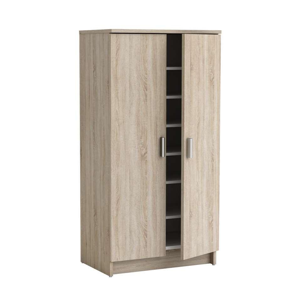 Schoenenkast 80 Cm Breed.Demeyere Schoenenkast Cabinet Wit Eikenkleur