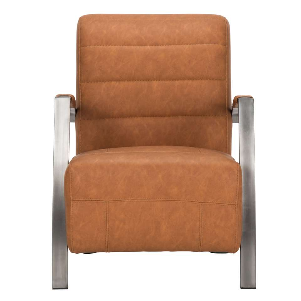 Fauteuil Sarasota is een strak vormgegeven industriële fauteuil en hoort bij de trends van vandaag.