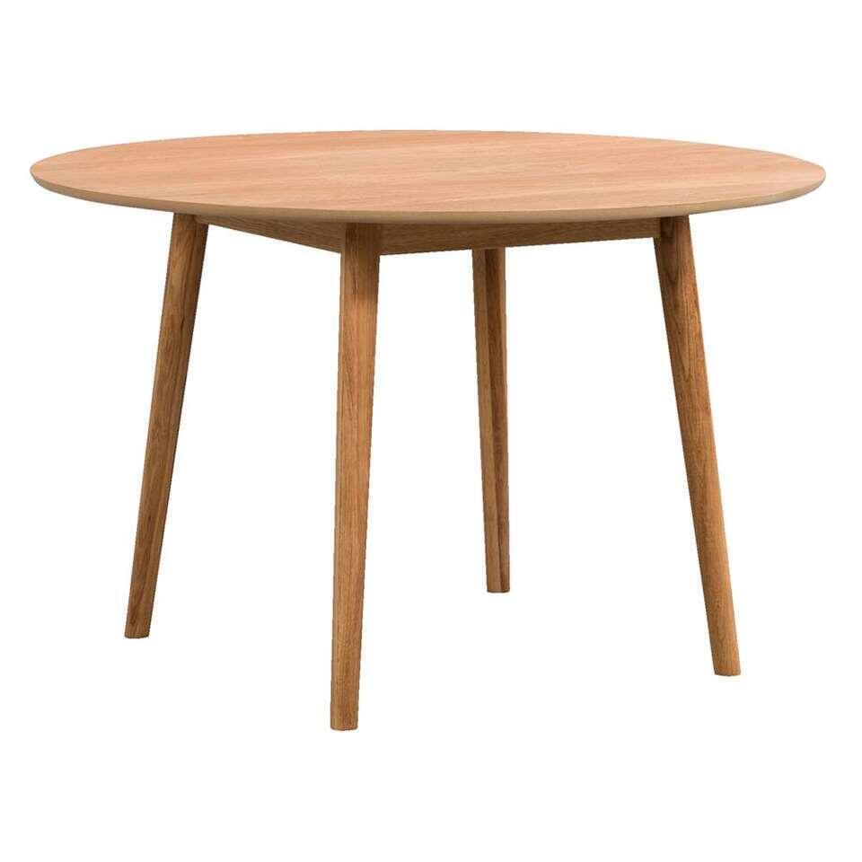 Table En Bois Chene Clair table ulfborg ronde - couleur chêne clair