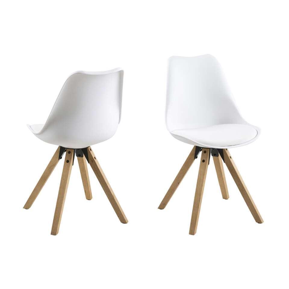 Eetkamerstoel verdal kunststof wit 2 stuks for Eetkamer stoel