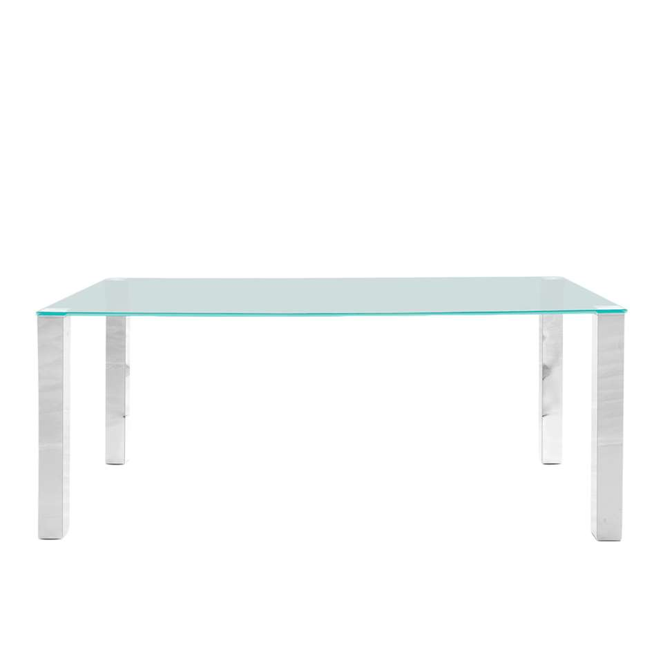 Table à manger Vandel - transparente - 180 cm