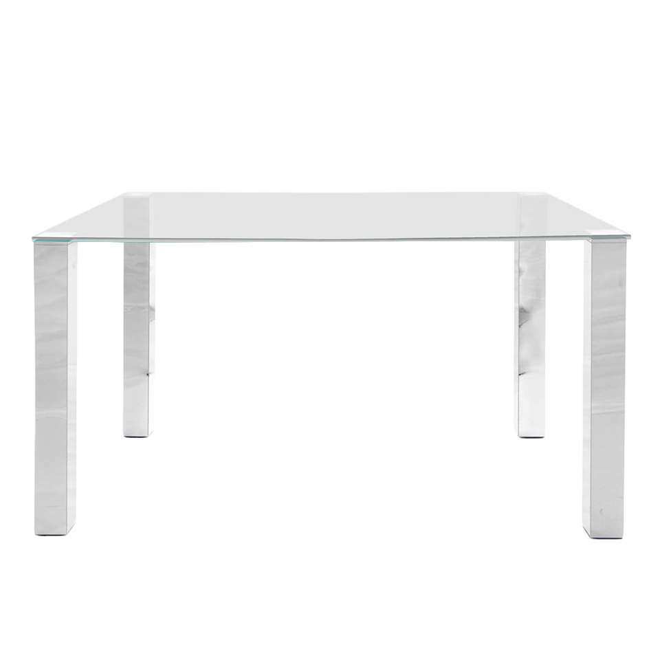 Table à manger Vandel - transparente - 140 cm