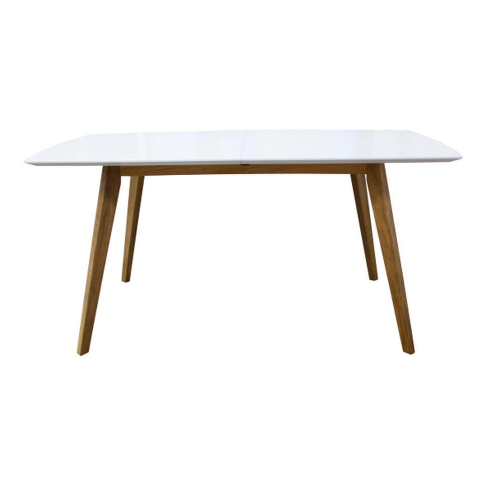 Table à manger Bess - blanc/chêne - 160x95 cm
