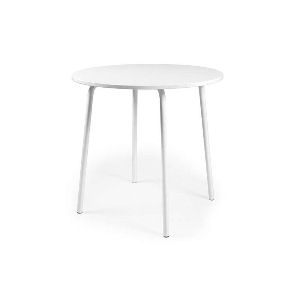 Table à manger Lolly - blanc - 76x90x90 cm