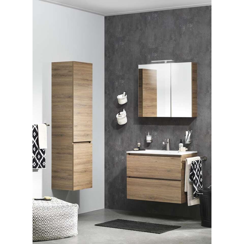 tiger meuble de salle de bains loft chalet en ch ne blanc 80 cm. Black Bedroom Furniture Sets. Home Design Ideas