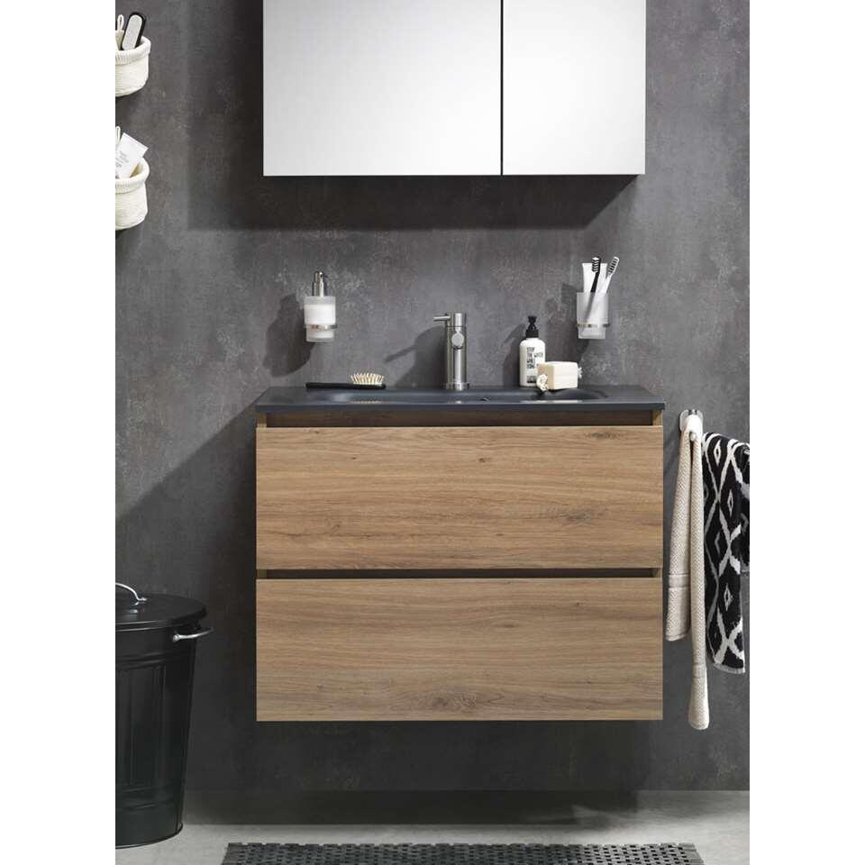 Tiger meuble de salle de bains Loft - chalet en chêne/ noir - 80 cm