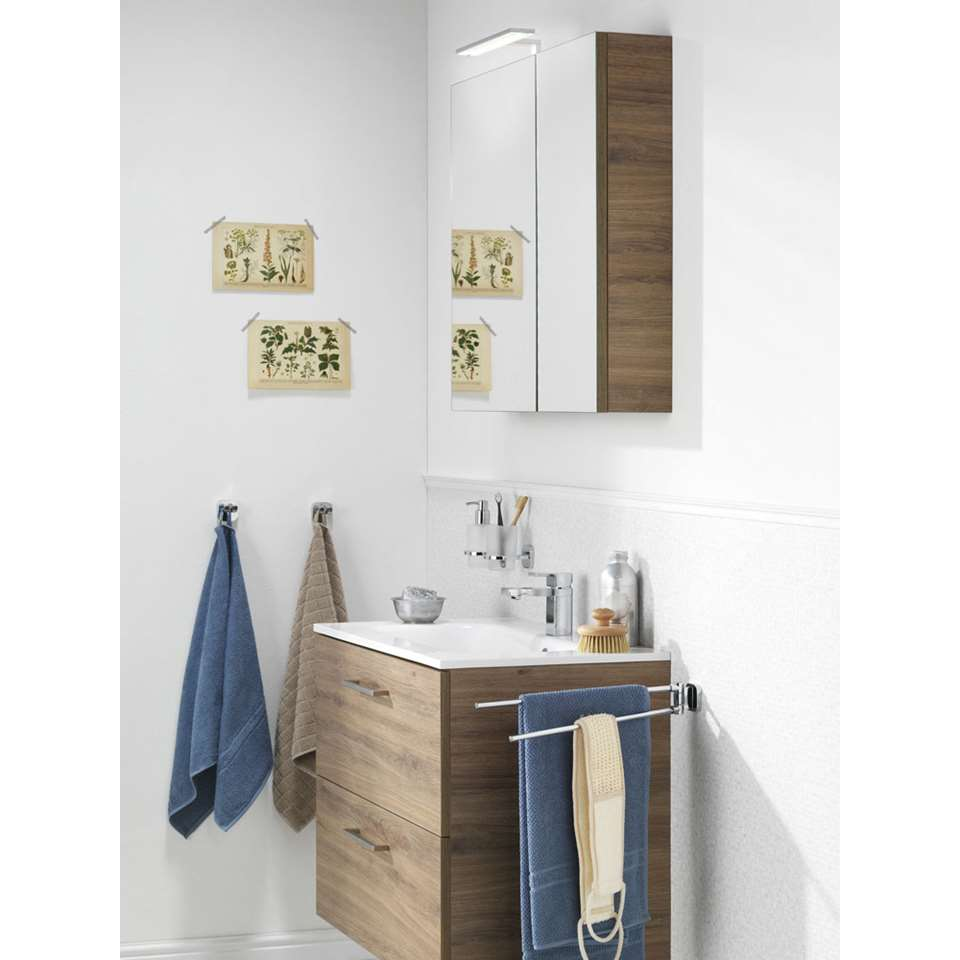 tiger meuble de salle de bains studio chalet en ch ne blanc 80 cm. Black Bedroom Furniture Sets. Home Design Ideas