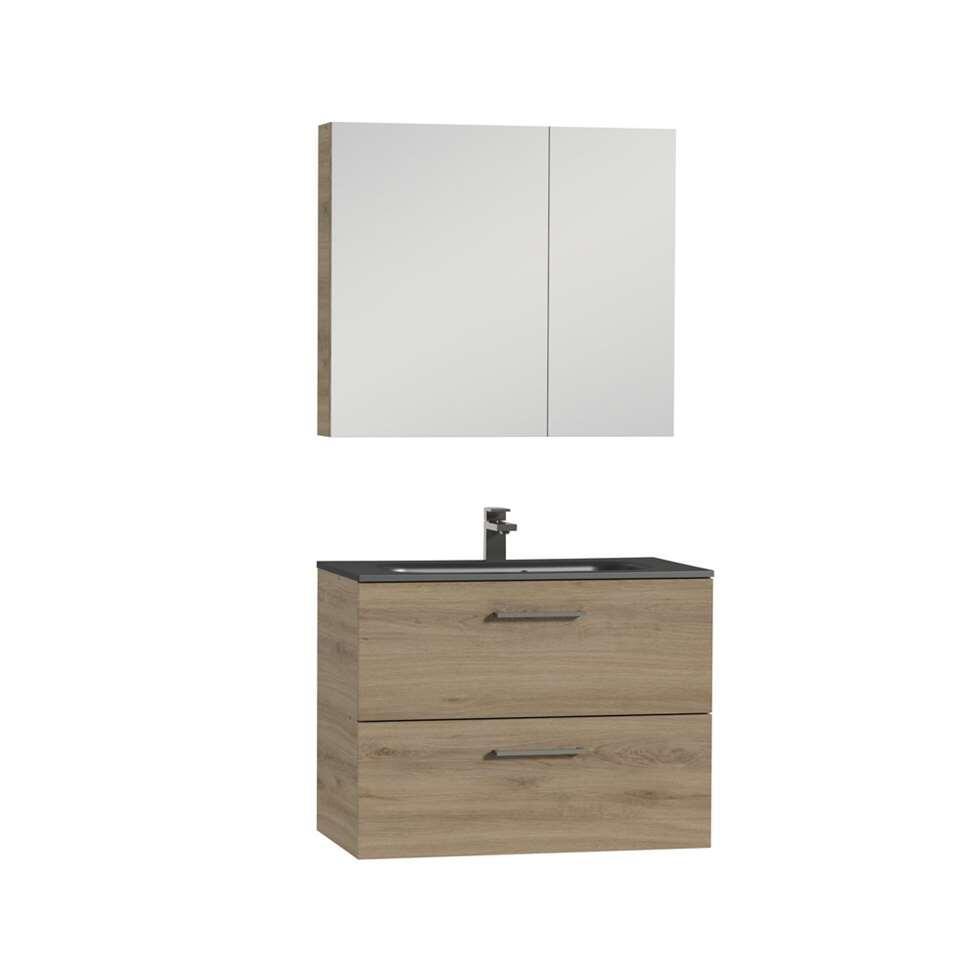 tiger meuble de salle de bains studio chalet en ch ne noir 80 cm. Black Bedroom Furniture Sets. Home Design Ideas
