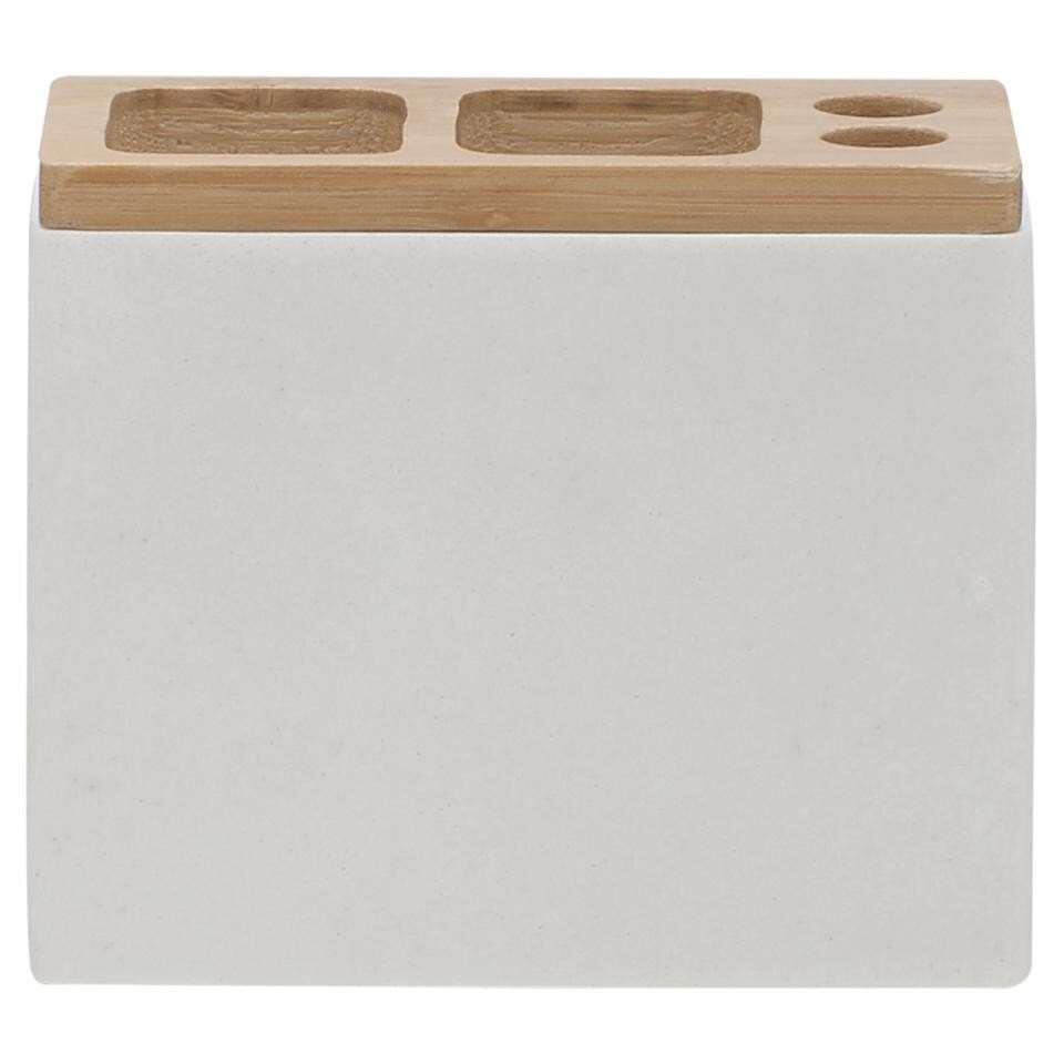 Sealskin tandenborstelhouder Grace - wit - 10,2x12,3x6 cm