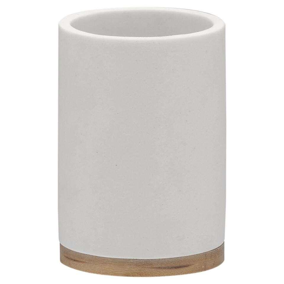 Sealskin beker Grace - wit - 10,6x7,3x7,3 cm