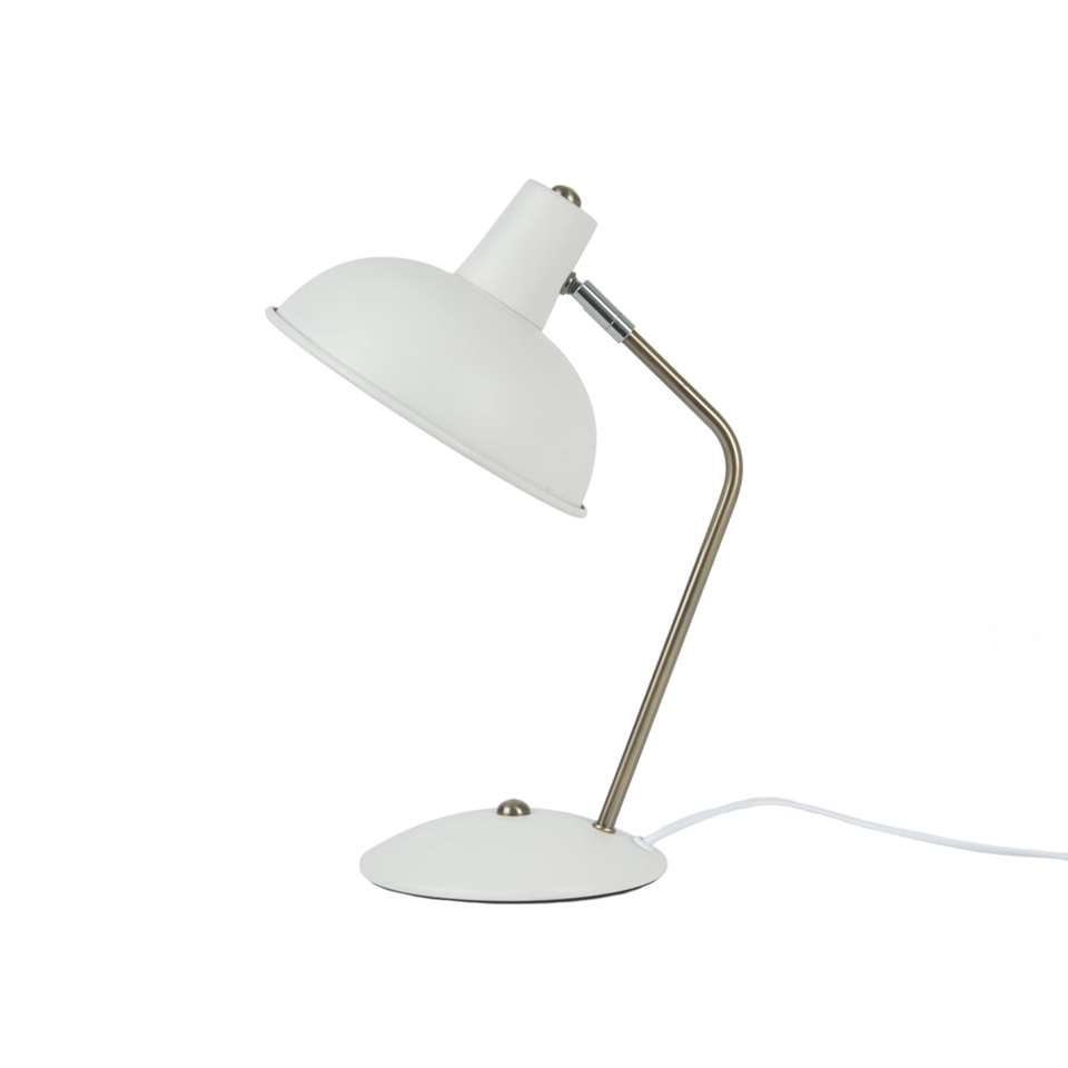 leitmotiv lampe de table hood - blanche