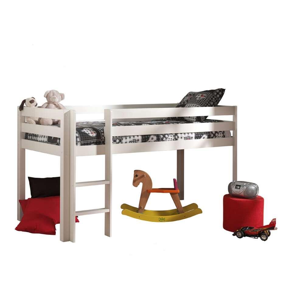 vipack lit sur lev pino avec bureau et rangement tiroirs blanc. Black Bedroom Furniture Sets. Home Design Ideas