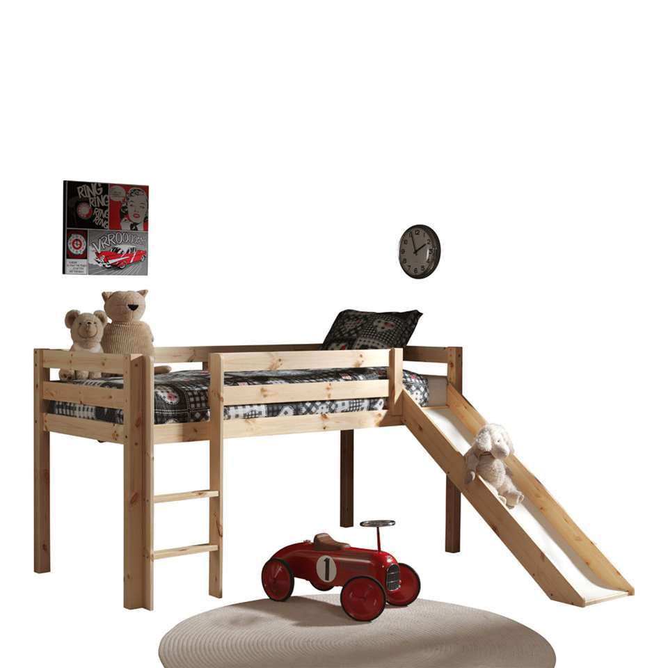 vipack lit sur lev pino avec toboggan pin. Black Bedroom Furniture Sets. Home Design Ideas