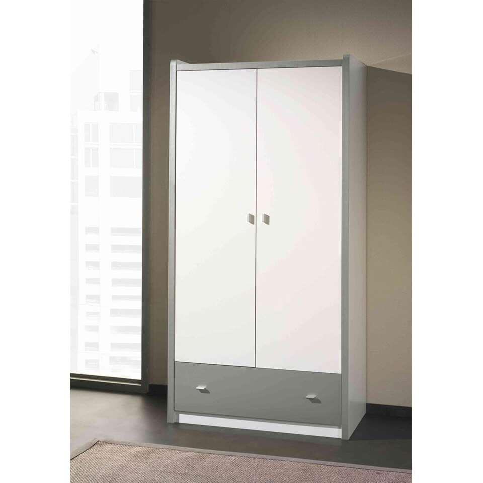 vipack armoire linge 2 portes bonny couleur argent. Black Bedroom Furniture Sets. Home Design Ideas