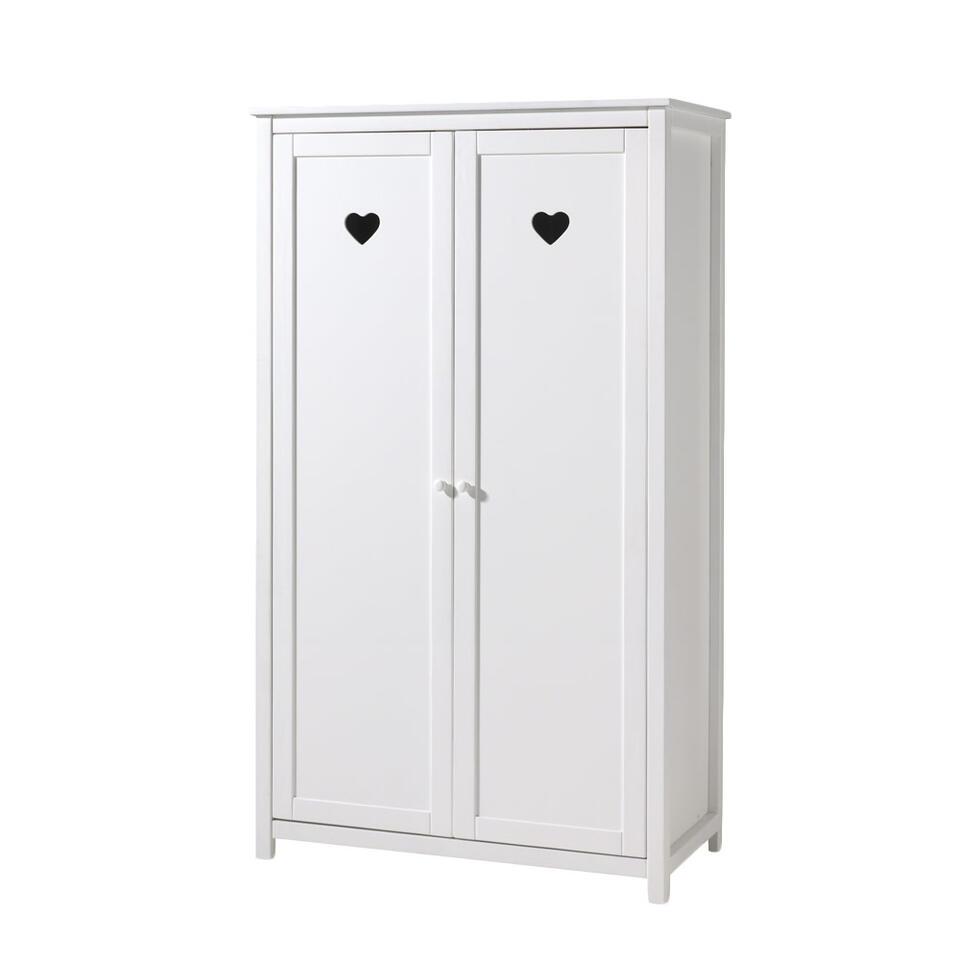 vipack armoire linge 2 portes amori blanche. Black Bedroom Furniture Sets. Home Design Ideas