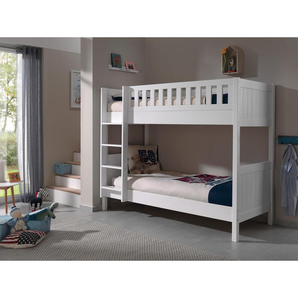 vipack lits superpos s lewis blanc. Black Bedroom Furniture Sets. Home Design Ideas