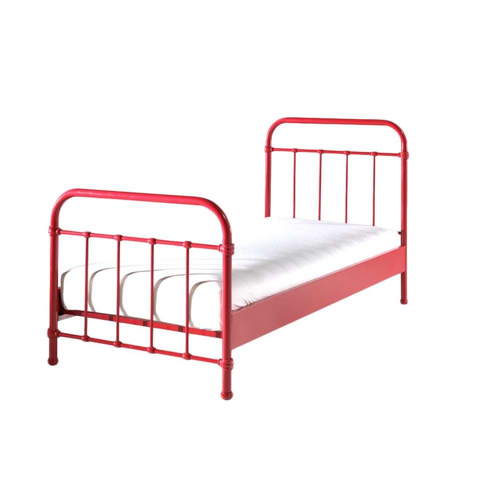 Vipack bed New York - rood - 90x200 cm