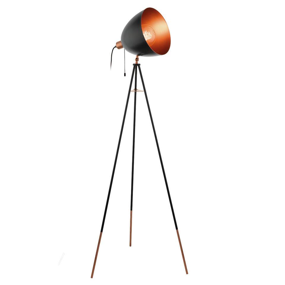 Eglo Vloerlamp Chester Zwartkoperkleur