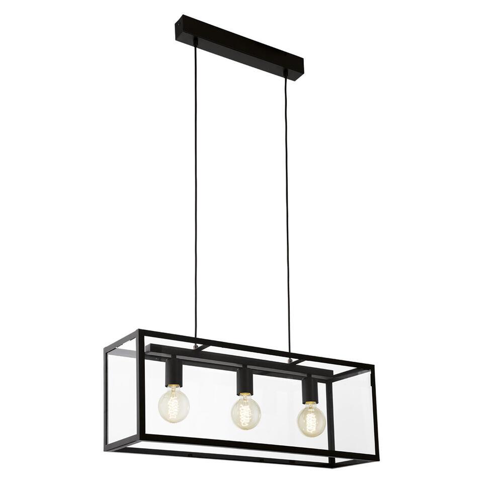 EGLO hanglamp Charterhouse 3 - lichts zwart/helder