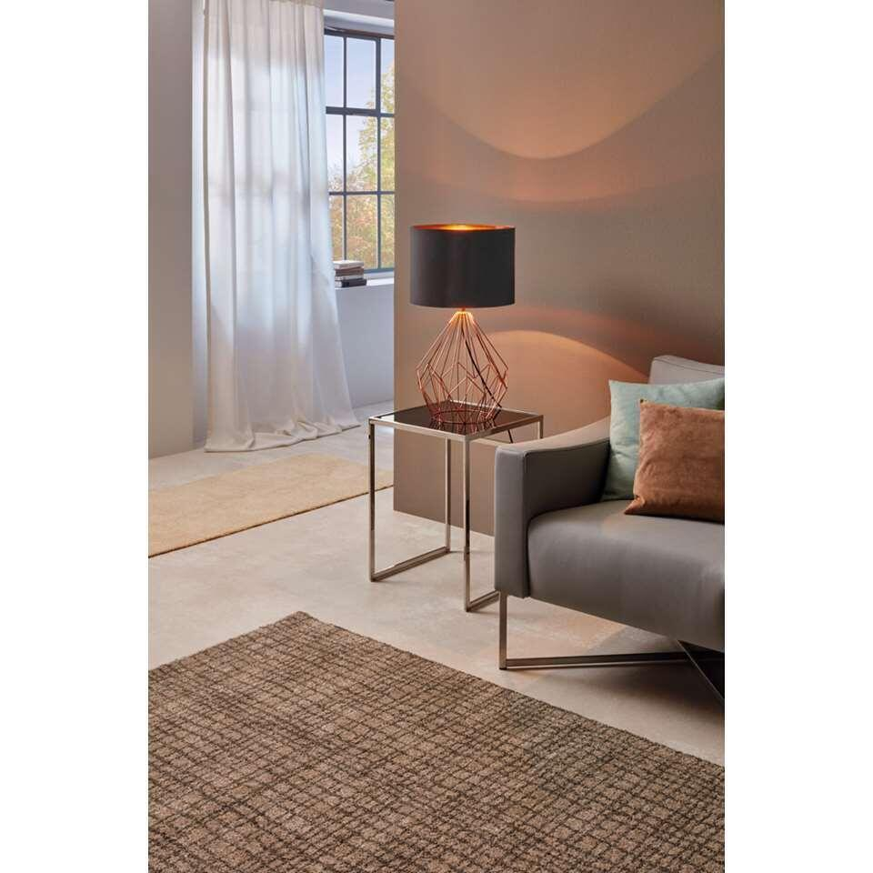 EGLO lampe de table Pedregal - zwart/koperkleur