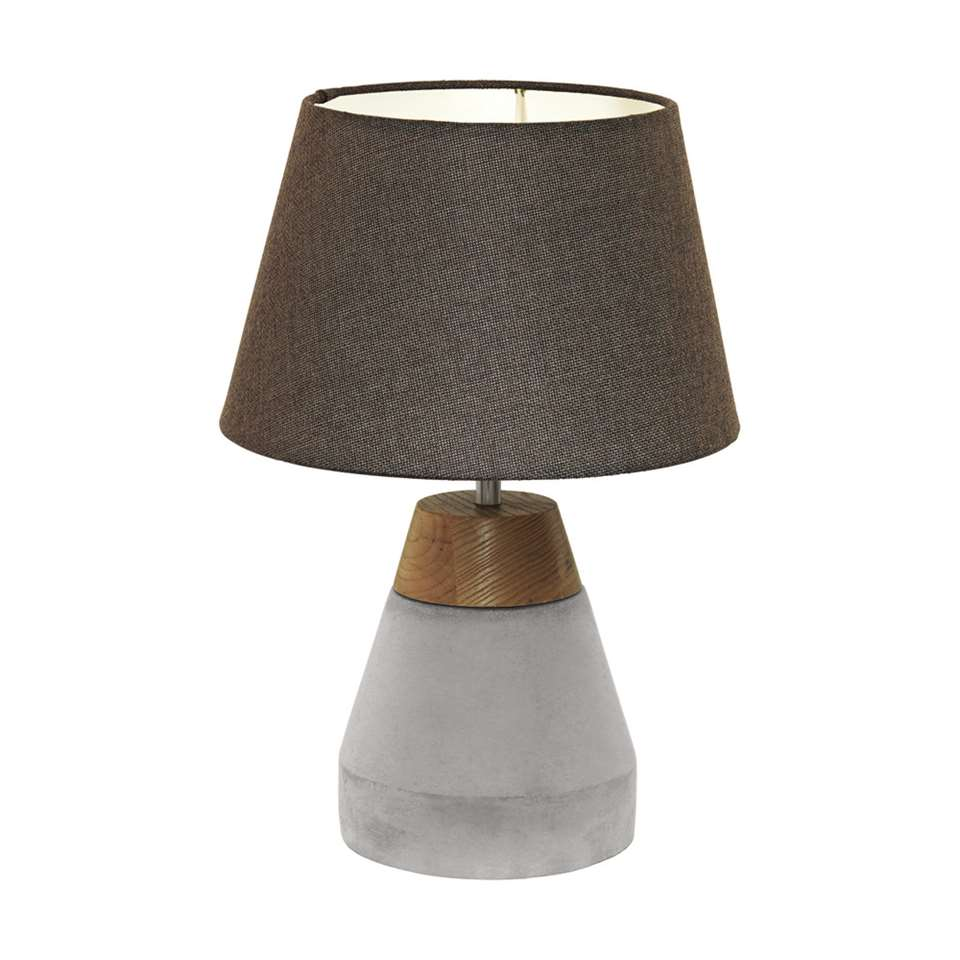 EGLO lampe de table Tarega - bois/béton