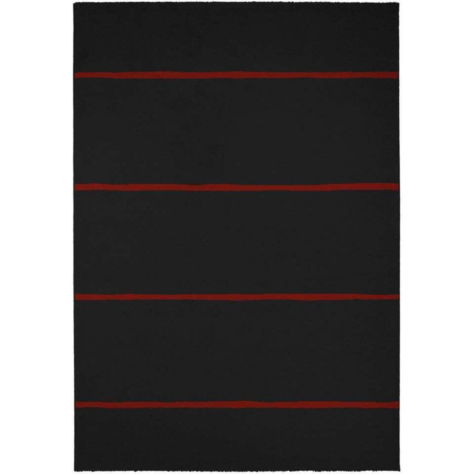 tapis bolton noir 60x110 cm - Tapis Noir