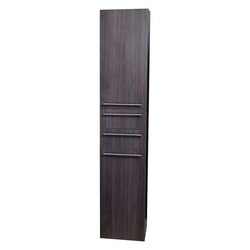 Differnz armoire de salle de bains Force - anthracite - en haut à droite - 30x30x176 cm