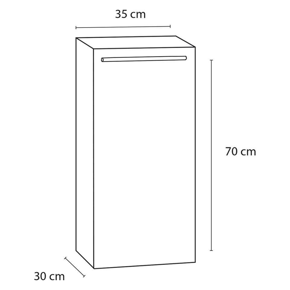 differnz armoire de salle de bains force brillant blanc en bas droite. Black Bedroom Furniture Sets. Home Design Ideas
