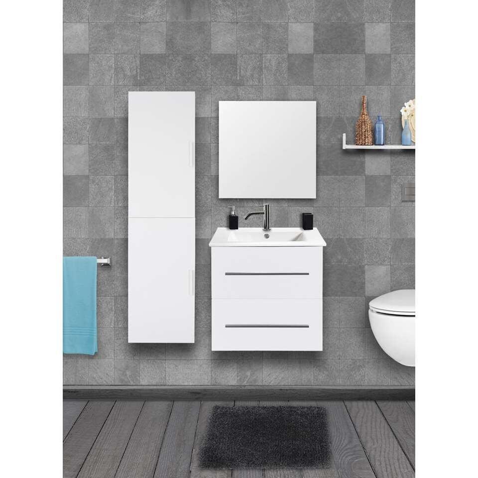 Differnz armoire de salle de bains Shout - brillant blanc - en haut à gauche/à droite