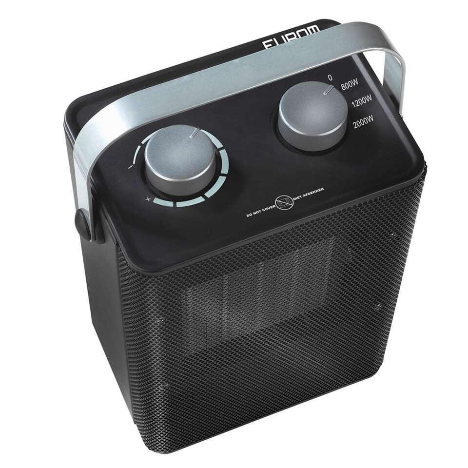 Eurom keramische kachel Safe-T-Heater 2000 - metaal - 29x17x12 cm - Leen Bakker