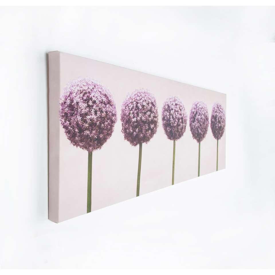 Art for the Home toile Rij van Alliums (rangée d'alliums) - violet - 100x40 cm