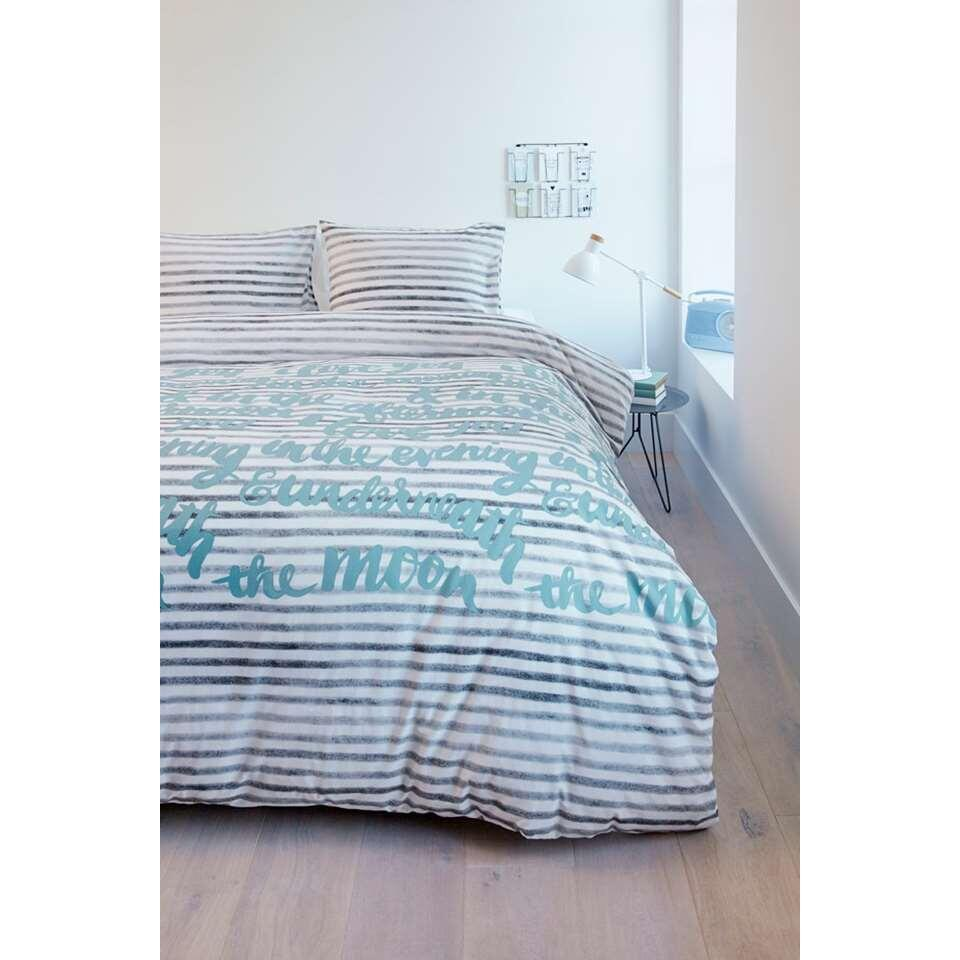 Ambiante parure de couette Striped Words - 140x200/220 cm