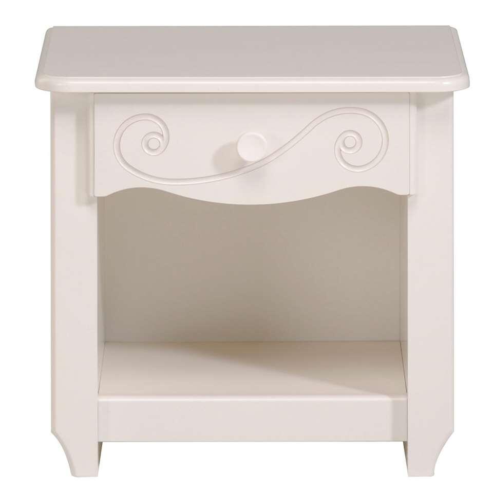 Table de chevet Lilly - blanc - 47x45x34 cm