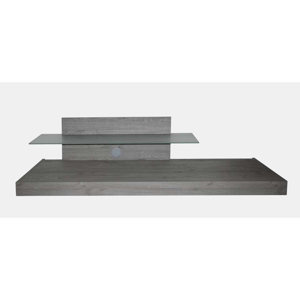 meuble tv mestre gris 200x64x51 cm. Black Bedroom Furniture Sets. Home Design Ideas