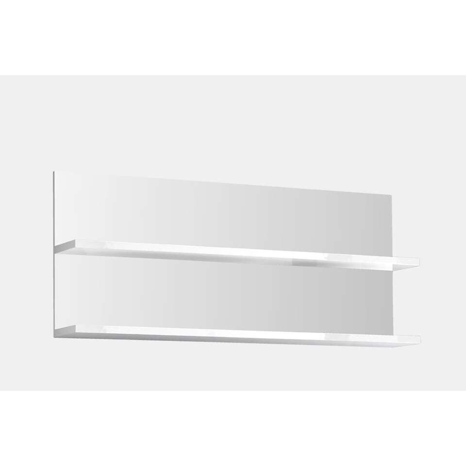 etag re murale mestre le lot de 2 blanc brillant 18x113x48 cm. Black Bedroom Furniture Sets. Home Design Ideas