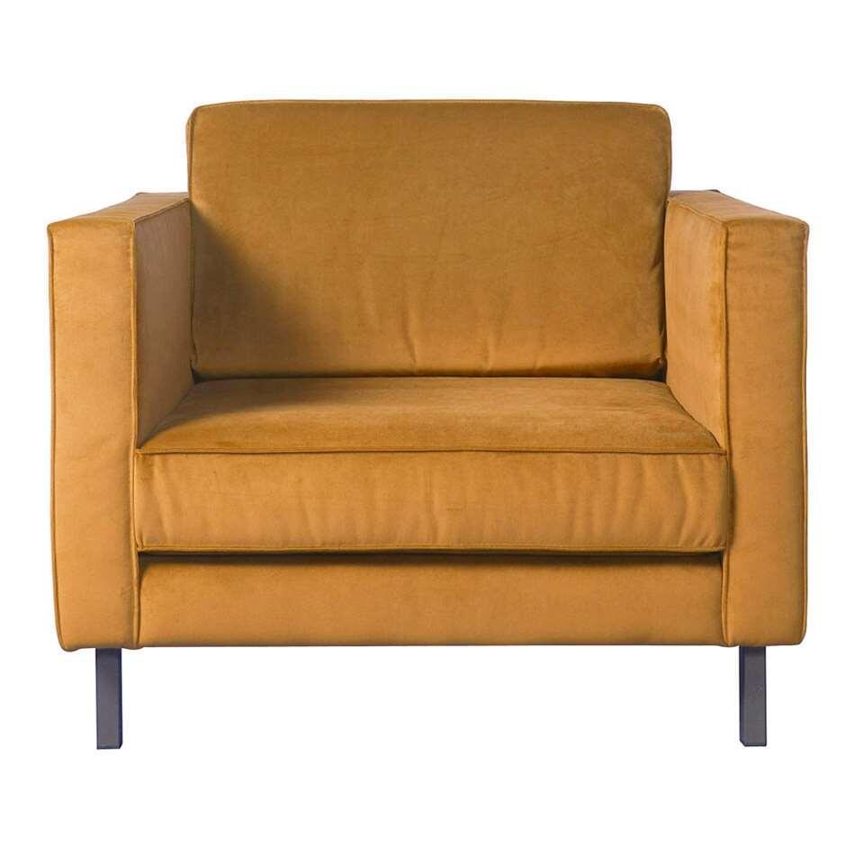 fauteuil harlem 1 5 zits velours jaune ocre. Black Bedroom Furniture Sets. Home Design Ideas
