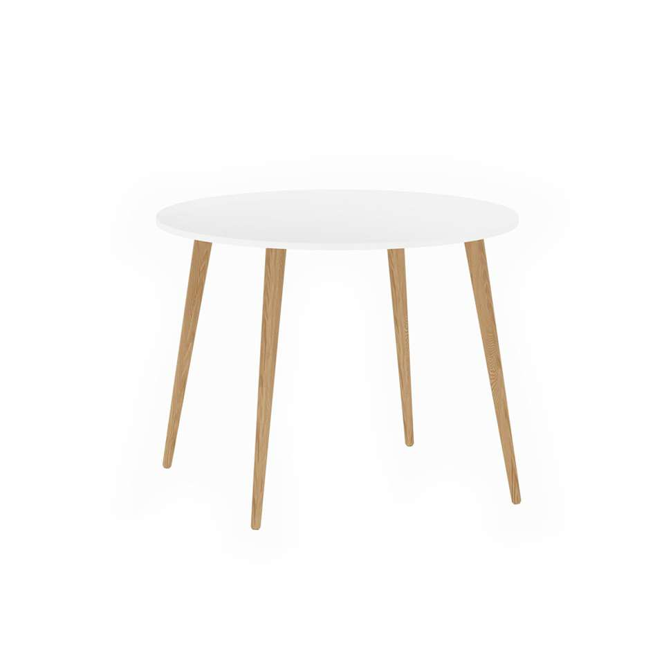 Table Delta ronde - blanc - 75x100x100 cm