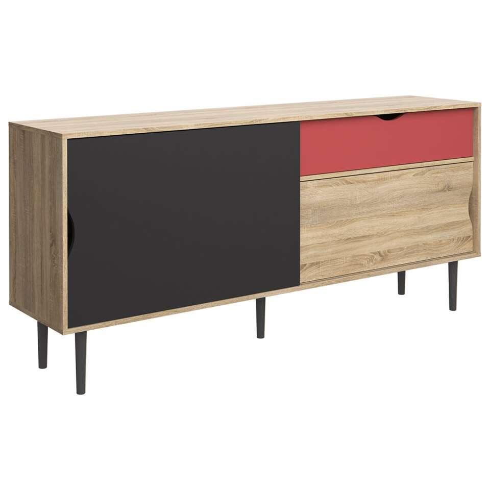 Dressoir Yding - lichte eikenkleur - 80x175,6x40 cm