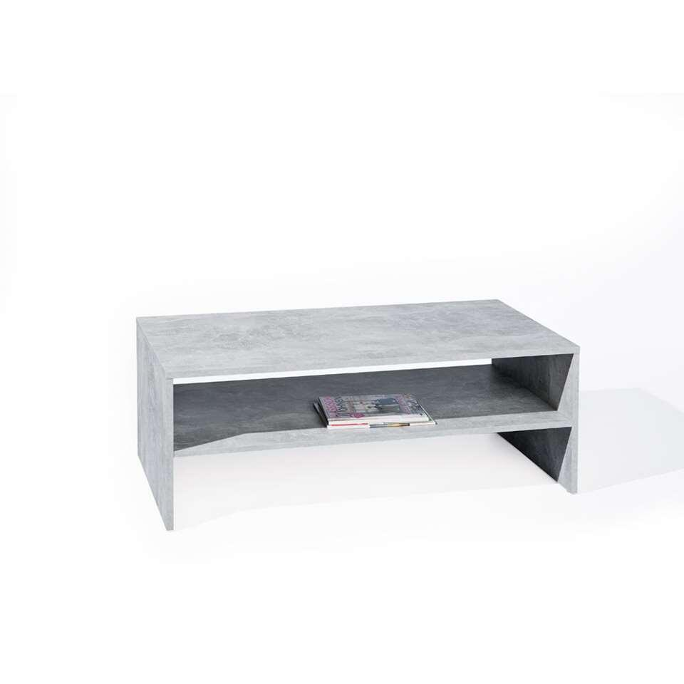 Table de salon Beton - grise - 41x115x60 cm