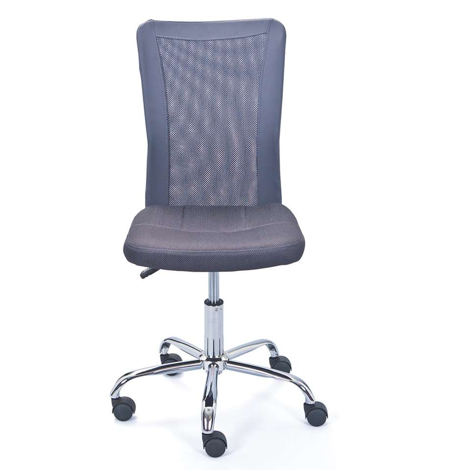 Kinderbureaustoel Bonnie heeft een achterkant gemaakt van ventilerende mesh en bestaat uit 90% polyester en 10% polyurethaan. Hiervoor krijgt u een comfortabele voorgevormde zitting terug.