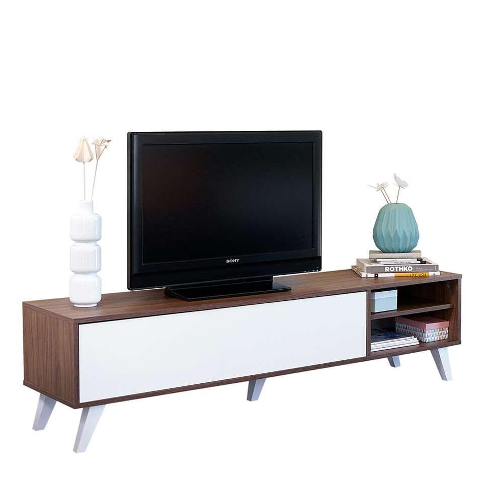 Tv Kast Leenbakker.Tv Dressoir Delta 6 Vaks Wit 57 4x117 1x39 Cm