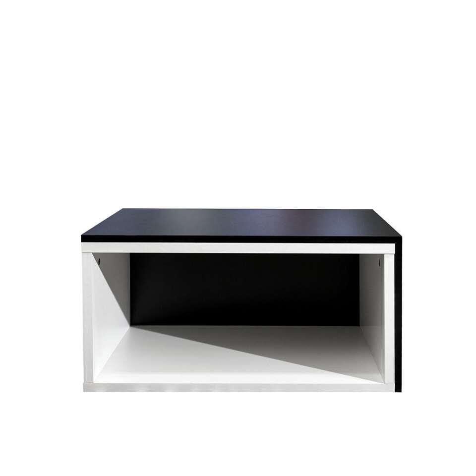 Zwart Wit Salon Tafel.Symbiosis Salontafel Rostoya Wit Zwart 35x70x40 Cm