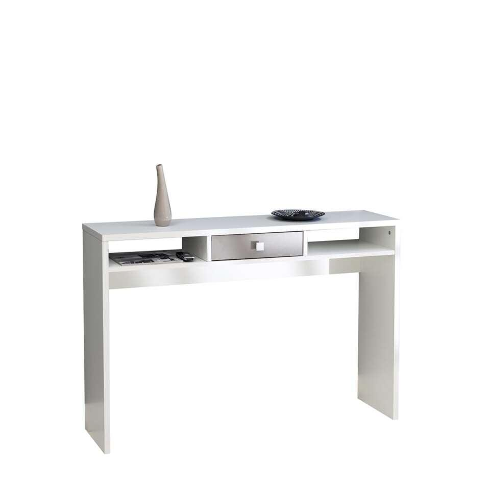 Symbiosis sidetable Helsoya - wit/taupe - 79,2x120x28 cm