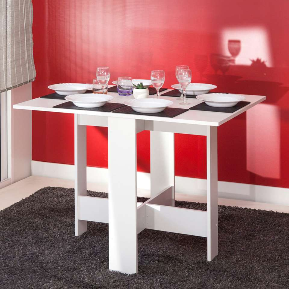 Symbiosis Table Escamotable Laugen Blanche 73 4x28x76 Cm