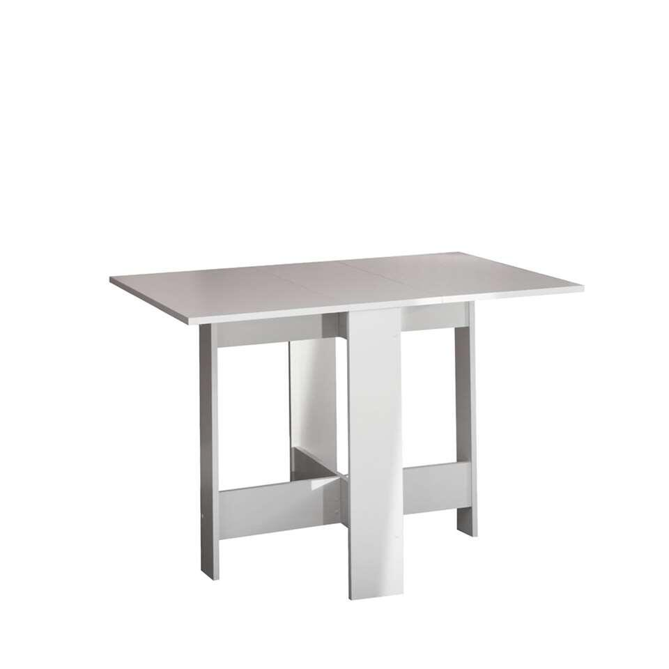 Symbiosis table escamotable Laugen - blanche - 73,4x28x76 cm
