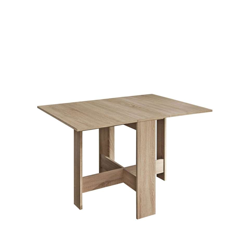 table escamotable chêne 73 4x28x76 couleur cm Symbiosis Laugen b76gfy